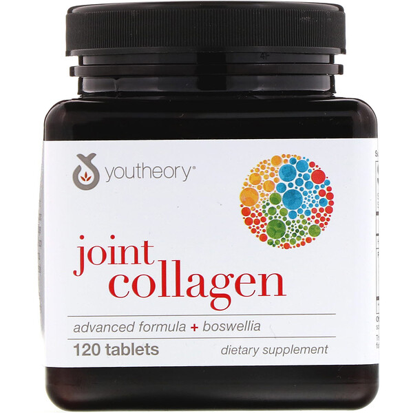 Youtheory, Joint Collagen, Advanced Formula + Boswellia, 120 Tablets