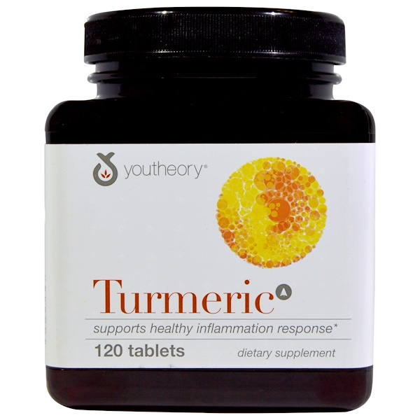 Youtheory, Turmeric, 120 Tablets