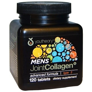 Youtheory, Mens Joint Collagen, Advanced Formula, Type 2, 120 Tablets