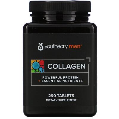 Youtheory Коллаген для мужчин, усовершенствованная формула, 290 таблеток
