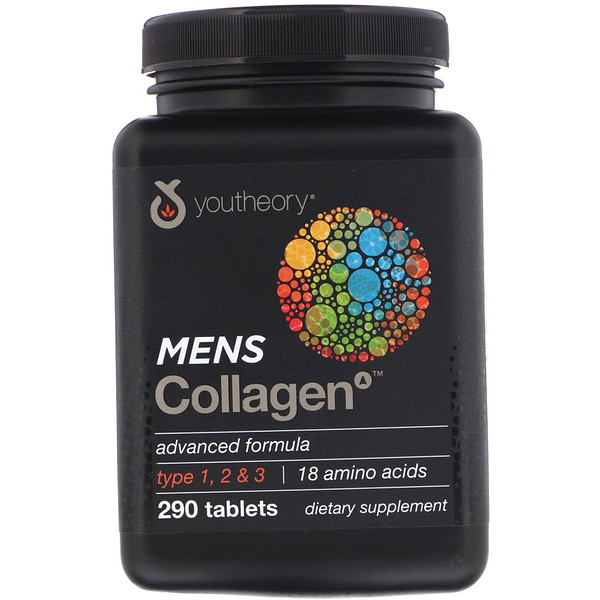 Youtheory, Mens Collagen Advanced Formula, 290 Tablets