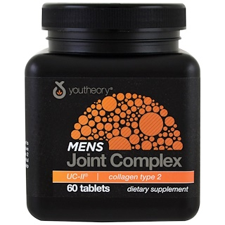 Youtheory, Men's Joint Complex, UC-II, 60 Tablets