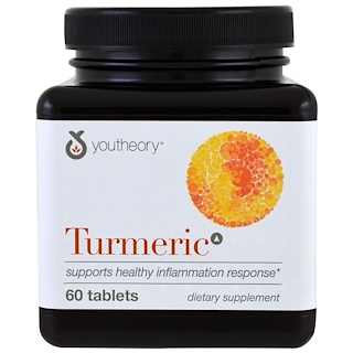 Youtheory, Turmeric, 60 Tablets