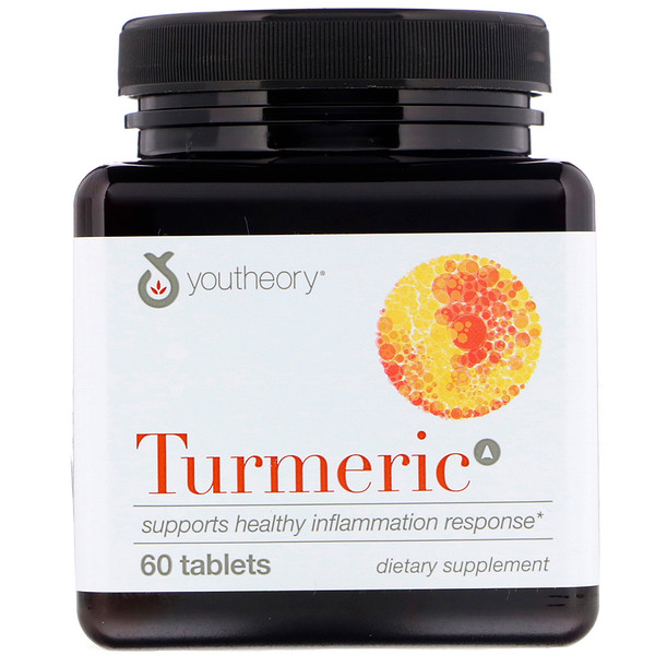 Youtheory, Cúrcuma, 60 tabletas