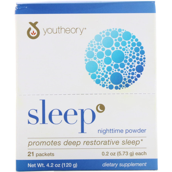 Youtheory, Sleep, Nighttime Powder, 21 Packets, 0.2 oz (5.73 g) Each