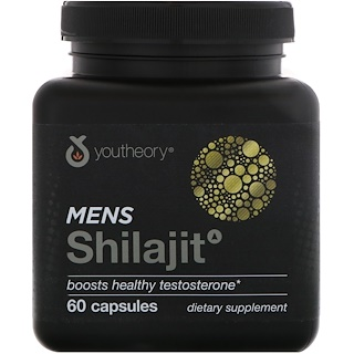 Youtheory, Mens Shilajit, 60 Capsules