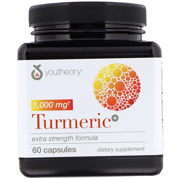 Youtheory, Turmeric, Extra Strength Formula, 1,000 mg, 60 Capsules