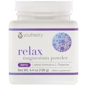 Ютиори, Relax, Magnesium Powder, Stress Formula + L-Theanine, Berry, 4.4 oz (126 g) отзывы