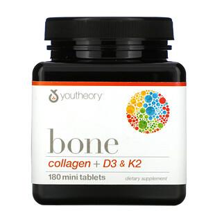 Youtheory, Bone, Collagen + D3 & K2, 180 Mini Tablets