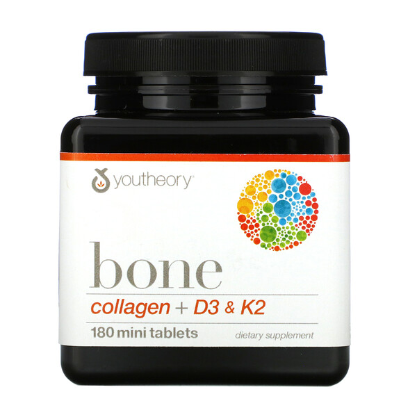 Bone, Collagen + D3 & K2, 180 Mini Tablets