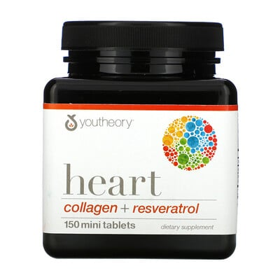 Youtheory Heart, Collagen + Resveratrol, 150 Mini Tablets