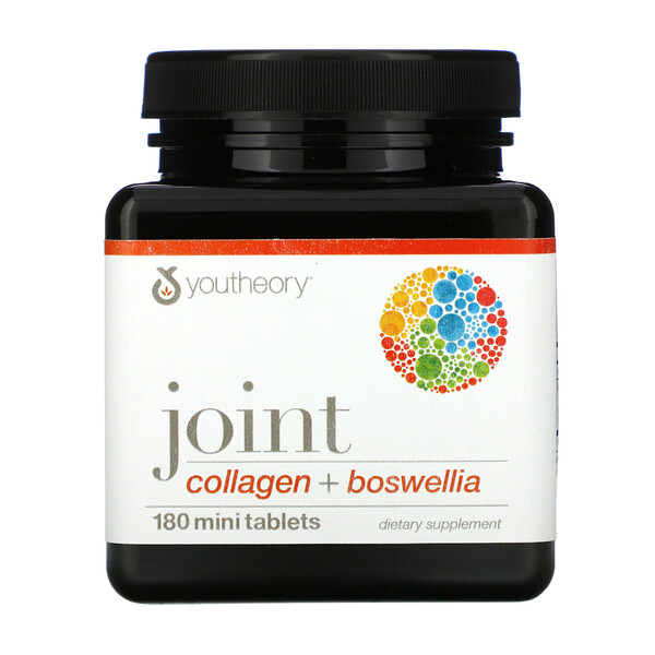 Youtheory, Joint, Collagen + Boswellia, 180 Mini Tablets