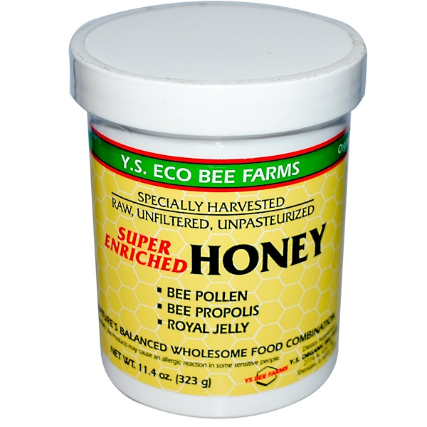Y.S. Eco Bee Farms, Super Enriched Honey, 11.4 oz (323 g)