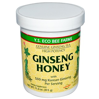 Y.S. Eco Bee Farms, Ginseng Honey, 11.0 oz (311 g)