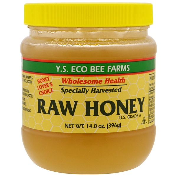 Y.S. Eco Bee Farms, Miel cruda, 14.0 oz (396 g)