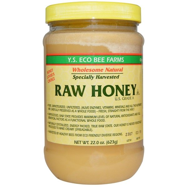Y.S. Eco Bee Farms, Raw Honey, U.S. Grade A, 22.0 oz (623 g)