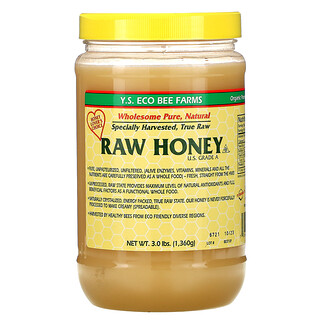 Y.S. Eco Bee Farms, Raw Honey, 3.0 lbs (1,360 g)