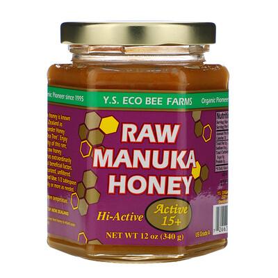 Y.S. Eco Bee Farms Лесной мед манука, Актив 15+, 12 унций (340 г)
