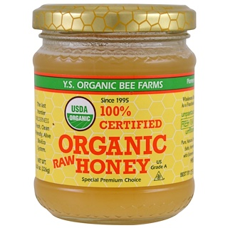Y.S. Eco Bee Farms, Miel cruda 100 % orgánica certificada, 8.0 oz (226 g)
