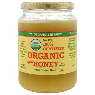 Y.S. Eco Bee Farms, عسل خام عضوي معتمد 100%، 2.0 رطل (907 غ)