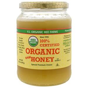 ЙС Эко Би Фармс, 100% Certified Organic Raw Honey, 2.0 lbs (907 g) отзывы покупателей