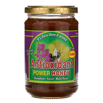 Купить Y.S. Eco Bee Farms Антиоксидантная сила меда, 13, 5 унций (383 г)