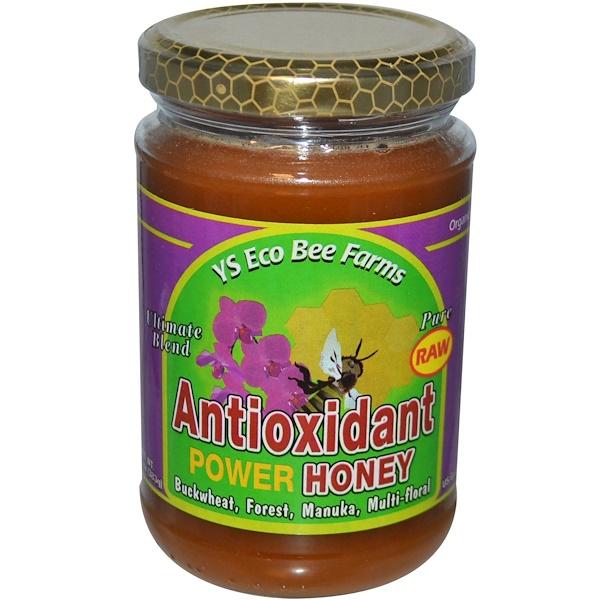 Y.S. Eco Bee Farms, Antioxidant Power Honey, 13.5 oz (383 g)