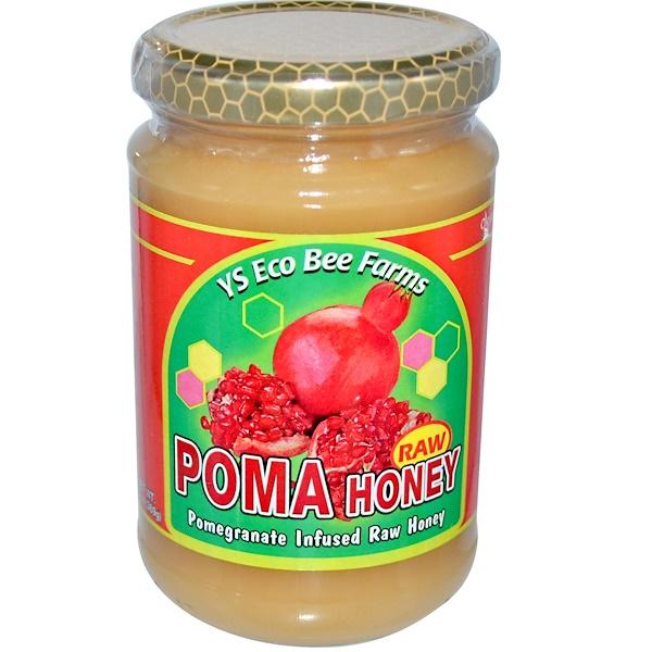 Y.S. Eco Bee Farms, Poma, Raw Honey, 13 oz (369 g)