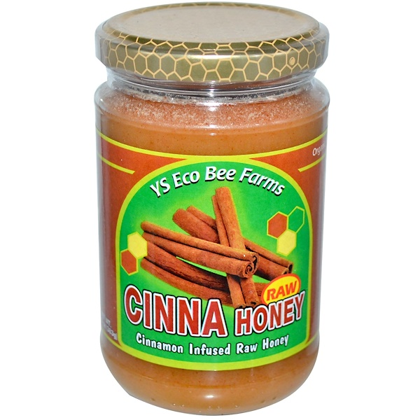 Y.S. Eco Bee Farms, Raw Cinna Honey, 13.5 oz (383 g)