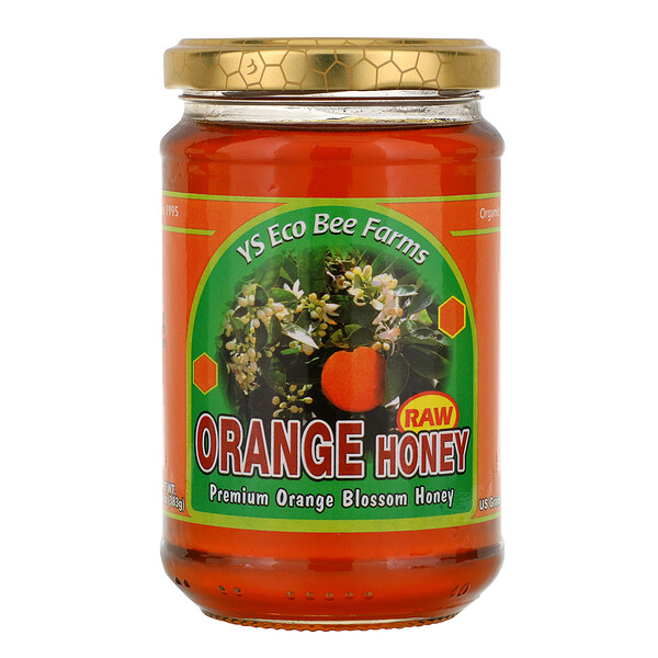 Y.S. Eco Bee Farms, Orange Honey, 13.5 oz (383 g)
