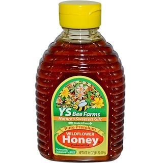 Y.S. Eco Bee Farms, Pure Premium Wildflower Honey, 16 oz (454 g)