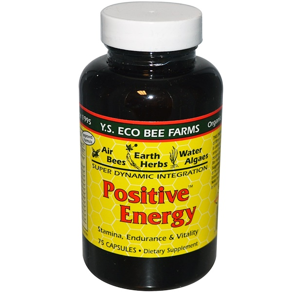 Y.S. Eco Bee Farms, Positive Energy, 75 Capsules (Discontinued Item)