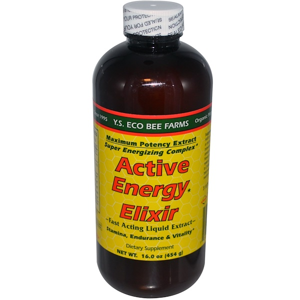 Y.S. Eco Bee Farms, Active Energy Elixir, 16.0 oz (454 g) (Ice)  (Discontinued Item)
