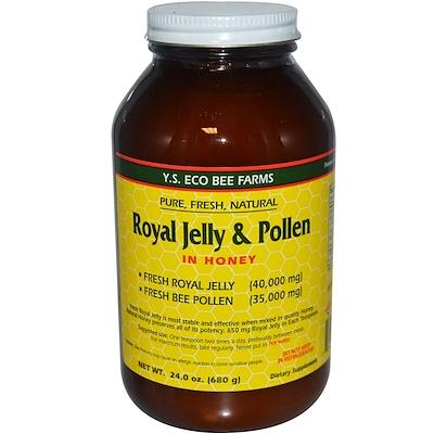 Купить Y.S. Eco Bee Farms Маточное молочко и пыльца, в меде, 680 г (1, 5 фунта)