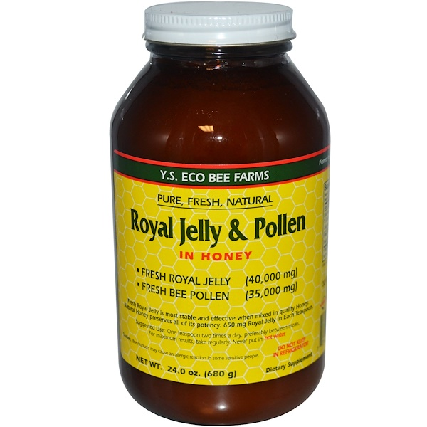 Y.S. Eco Bee Farms, Royal Jelly & Pollen, In Honey, 24.0 oz (680 g)
