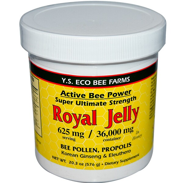 Y.S. Eco Bee Farms, Royal Jelly In Honey, 20.3 oz (576 g)