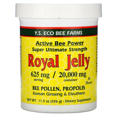 Купить Y.S. Eco Bee Farms Royal Jelly In Honey, 625 mg, 11.5 oz (326 g)