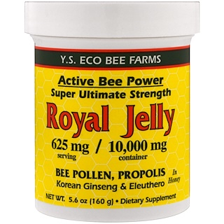 Y.S. Eco Bee Farms, Royal Jelly In Honey, 625 mg, 5.6 oz (160 g)