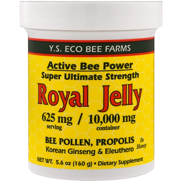 Royal Jelly In Honey, 625 mg, 5.6 oz (160 g)
