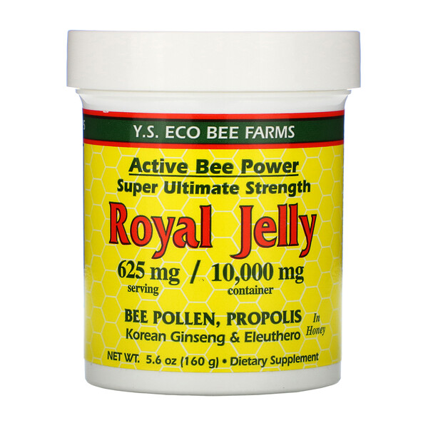 Y.S. Eco Bee Farms, Jalea real en miel, 625 mg, 5.6 oz (160 g)
