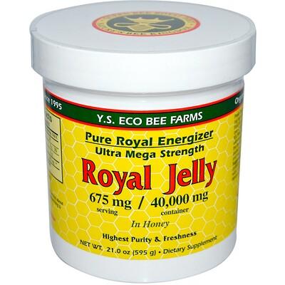 Купить Y.S. Eco Bee Farms Royal Jelly In Honey, 675 mg, 21.0 oz (595 g)