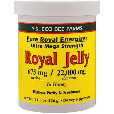 Маточное желе в меду, 675 мг, 11,5 унций (326 г) настоящая пища жареный пекан в меду 8 унций 227 г