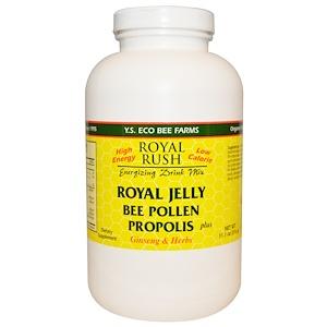 ЙС Эко Би Фармс, Royal Rush Energizing Drink Mix, Royal Jelly, Bee Pollen, Propolis Plus Ginseng & Herbs, 11.1 oz (316 g) отзывы