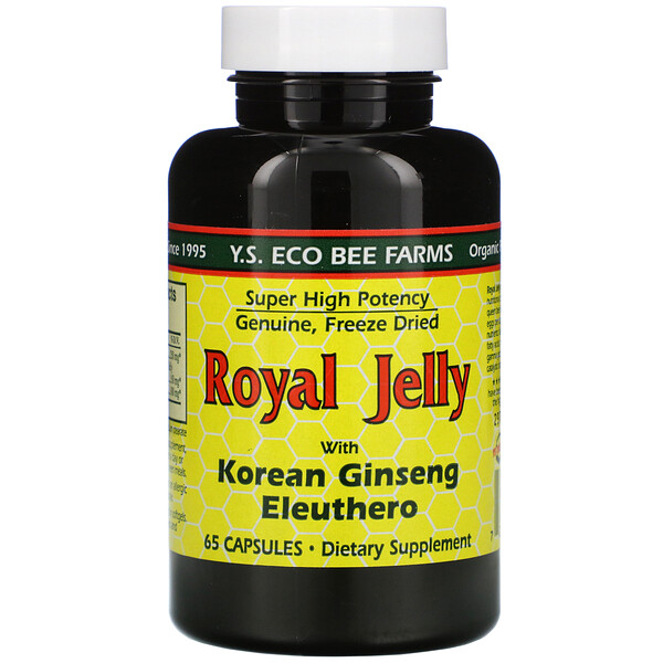 Royal Jelly, with Korean Ginseng Eleuthero, 65 Capsules