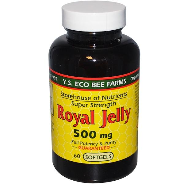Y.S. Eco Bee Farms, Маточное молоко, Супер Сила 60 гелевых капсул (Discontinued Item)