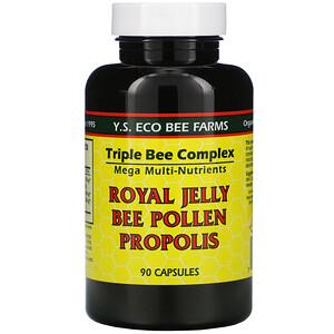 ЙС Эко Би Фармс, Royal Jelly, Bee Pollen, Propolis, 90 Capsules отзывы