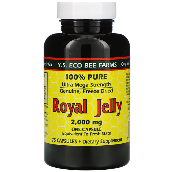 Royal Jelly, 100% Pure, 2,000 mg, 75 Capsules