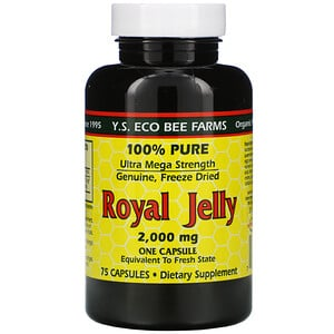 ЙС Эко Би Фармс, Royal Jelly, 100% Pure, 2,000 mg, 75 Capsules отзывы