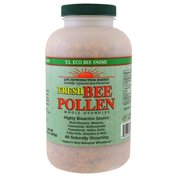 Y.S. Eco Bee Farms, Fresh Bee Pollen Whole Granules, 16.0 oz (454 g)