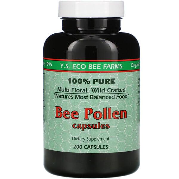 Y.S. Eco Bee Farms, Pollen d'abeilles, 200 gélules